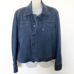 Levis 100% Cotton Navy Collared Button Up Jacket